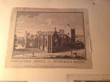 Georgian gravure et empreintes de scap livre Lincluden abbey