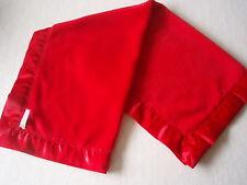 Baby bedding Lovely Handmade Red Baby fleece blanket & Red satin Binding