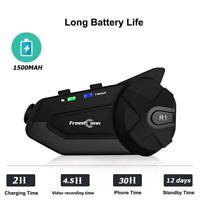 R1 HD1080P Motorcycle WiFi Bluetooth 4.1 HiFi Helmet Headset Intercom Interphone