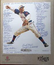 Negro Leagues Autographed Lithograph of Satchel Paige 68  sigs 35 D  COA