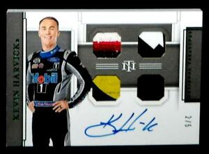 Panini National Treasures Nascar Racing Card KEVIN HARVICK Signed #2/5 2020