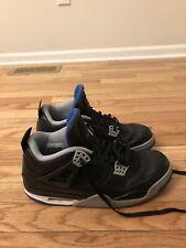 Air Jordan Retro IV Alternate Motorsport Black Blue Men's Basketball Shoes 10.5