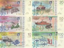 Peter I Island Set 6 banknotes 2017 year UNC (private issue)