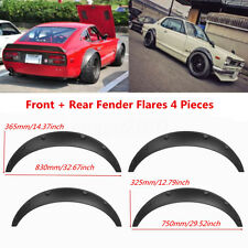 Universal Car Fender Flares 4 Pieces Flexible Yet Durable Polyurethane Black  !