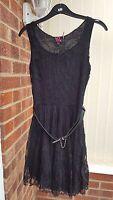 Super Little Black Lacy Dress, Sleeveless, Knee Length, Size 10, NWT