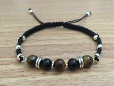 Men's Fashion Stylish Tiger Eye & Onyx Shamballa Bracelet ~ Chakra Healing Reiki