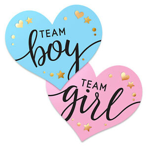 Gender Reveal Stickers for Party Invitations and Voting Games (80 Count) Team