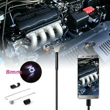 5M 8MM 6LED Waterproof Android Endoscope Borescope Snake Inspection Camera video