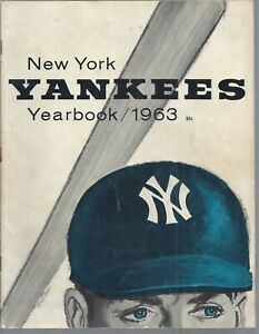 1963 New York Yankees Yearbook Book Mantle Ford + Newspaper Articles