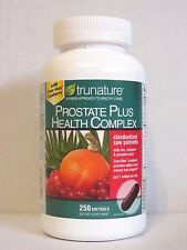 trunature PROSTATE PLUS HEALTH COMPLEX 250 Softgels *Saw Palmento with Zinc*