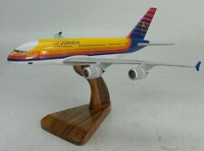 A-380 Air Jamaica JM Airbus A380 Airplane Desk Wood Model Big New