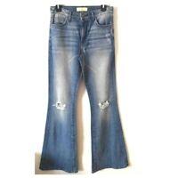29cc09e458b J by COOKIE JOHNSON Flare Distressed Boho Festival Jeans Size 27 NWT  Coachella