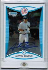 2008 Bowman Chrome AUSTIN ROMINE Auto (Rookie)  #BCP 256 Yankees