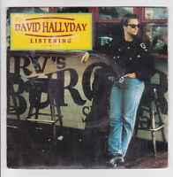 "HALLYDAY David Vinyle 45 tours SP 7"" LISTENING -MAD MAD WORLD -SCOTTI BROS 74518"