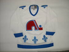 Quebec Nordiques Jersey NHL CCM Vintage Men Medium WHITE