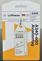Aviation Tag  LH A340- DAIHO by FlapsFive original Flugzeug Rumpf - limitiert !