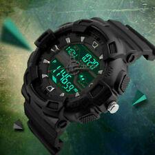 Men's Date Military Sport Digital Analog Chronograph Waterproof Watch Black US
