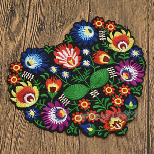 Heart Flower Embroidery Applique Patches For Clothing Iron On Patch Applique