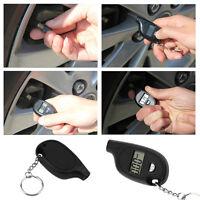 Motorcycle Mini Keychain LCD Digital Tire Air Pressure Gauge Meter jp