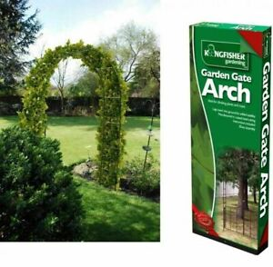 2.4m Metal Garden Arch Heavy Duty Strong Tubular Rose Climbing Plants Archway