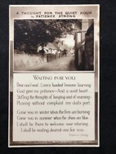 """Vintage Greetings Postcard: #AA525: Poem """"A Thought"""" By Patience Strong"""