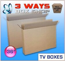 2x 36inch LCD/Plasma TV Picture Cardboard Removal Box FREE DELIVERY