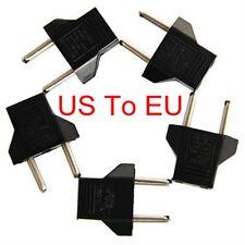 LOT 5 Pcs US USA to EU Euro Europe AC Power Wall Plug Converter Travel Adapter