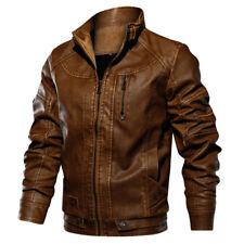 TACVASEN Mens Tactical PU Leather Jacket Bomber Motorcycle Biker Jackets Outwear