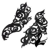 Motif Lace Guipure Vintage Swirl Applique 29cm Style 8156 (Price per pair) - Cra