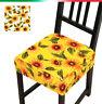 Chaise de Housses Coussin Amovible Cuisine -revêtement Assise Élastique Meubles