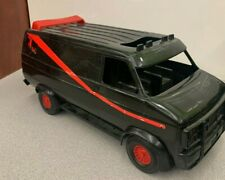 "Vintage 1983 The A-Team Van 15"" Plastic Ertl Black Gmc Vandura Ba Baracus"