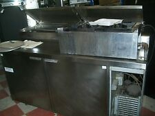 Pizza Prep Table, Delfield, New Cutting Board, Casters, 115V 900 Items On E Bay