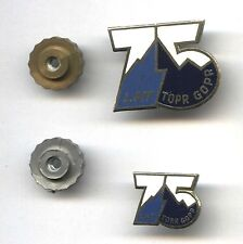 2 badges (small and big) POLISH MOUNTAIN RESCUE TEAM pins TOPR GOPR 75th Anniv.