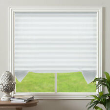 "Light Filtering Pleated Non Woven Fabric Cordless White Window Blinds 48""x72"""