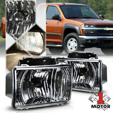 Black Chrome Housing Fog Light Bumper Lamps for 04-12 Chevy Colorado/GMC Canyon