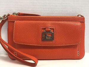 *Dooney & Bourke*Orange* Large Pocket Wristlet*Dillen Leather*Wallet 17092C S166
