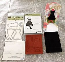 Stampin up ALL DRESSED UP Stamps + DRESS UP FRAMELITS + POP 'N CUTS DIE RETIRED
