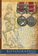 British & Empire Campaign Medals 1793 To 1902 Volume 1 Price Guide Book