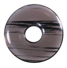 Lamelas Obsidiana Donut Colgante Gema 30mm piedra de cristal PI piedra curativa