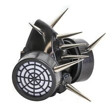 """Gas Mask Respirator 3"""" Cone Spike Punk Goth Rave Cyber Halloween Dual Filter"""