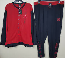 NIKE JORDAN XI RETRO 11 WARM UP SUIT JACKET+ PANTS BLACK RED RARE NEW (SIZE 4XL)