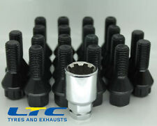 20 * Black M14x1.5mm 16 Bolt + 4 Locking Bolts to suit Alloy Wheels