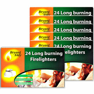 Bryant & May Long Burning Easy to Use Firelighters BBQs Open Fire Pits Chimeneas