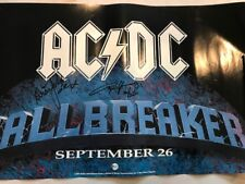 AC/DC signed poster by 2 coa + Proof! Angus Young Brian Johnson autographed acdc