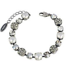 Grevenkämper Armband Swarovski Kristall Pavé und Perlen klar weiß Crystal Mix
