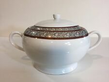 "Philippe Deshouliere Limoge France Covered Serving Bowl, 6 1/2"" T x 12 1/2"" Wide"