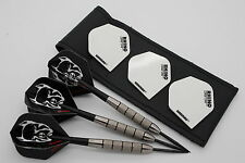 25g Tungsten darts set 'PITBULLS' Rhino standard flights, stems,case