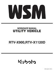 BEST GENUINE KUBOTA RTV-X900 RTV-X1120D UTILITY TRACTOR SERVICE REPAIR MANUAL CD