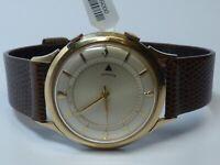 Rare Vintage LeCoultre Memovox 10K Gold Filled Alarm Wristwatch.
