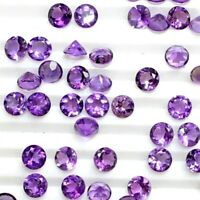 Wholesale Lot 7mm Round Facet Natural African Amethyst Loose Calibrated Gemstone